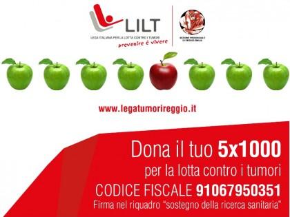 Parte la campagna 5×1000 di LILT Reggio Emilia