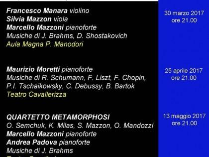 """30 marzo 2017 – """"INCONTRO ALLA MUSICA"""" – Aula Magna Fondazione Manodori"""