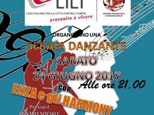 """24/06/2017 – SERATA DANZANTE al CIRCOLO """"OROLOGIO"""" – Via Degani (RE)"""