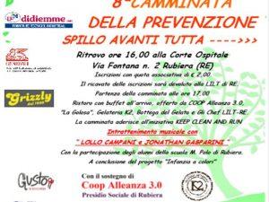 """03 giugno 2018 – 8′ Camminata della Prevenzione """"Spillo Avanti Tutta"""" – Rubiera (RE)"""
