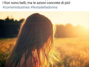 8 marzo 2019 – Comer Industries S.p.a. ha sostenuto LILT Reggio Emilia per la Festa della Donna