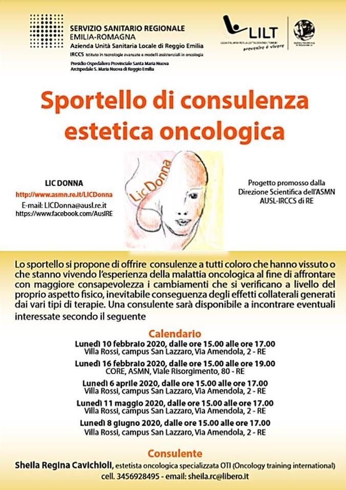 SPORTELLO DI CONSULENZA DI ESTETICA ONCOLOGICA LILT Reggio Emilia – LIC Donna