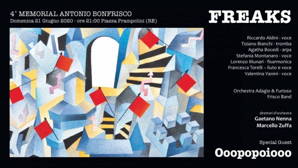 21 giugno 2020 – QUARTO MEMORIAL BONFRISCO – P.zza Prampolini – Reggio Emilia (RE)