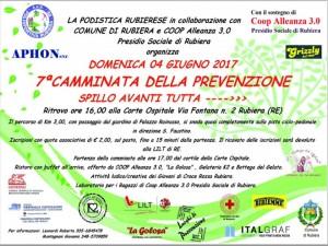 """04/06/2017 – 7′ CAMMINATA DELLA PREVENZIONE – """"SPILLO AVANTI TUTTA"""" – CORTE OSPITALE RUBIERA (RE)"""