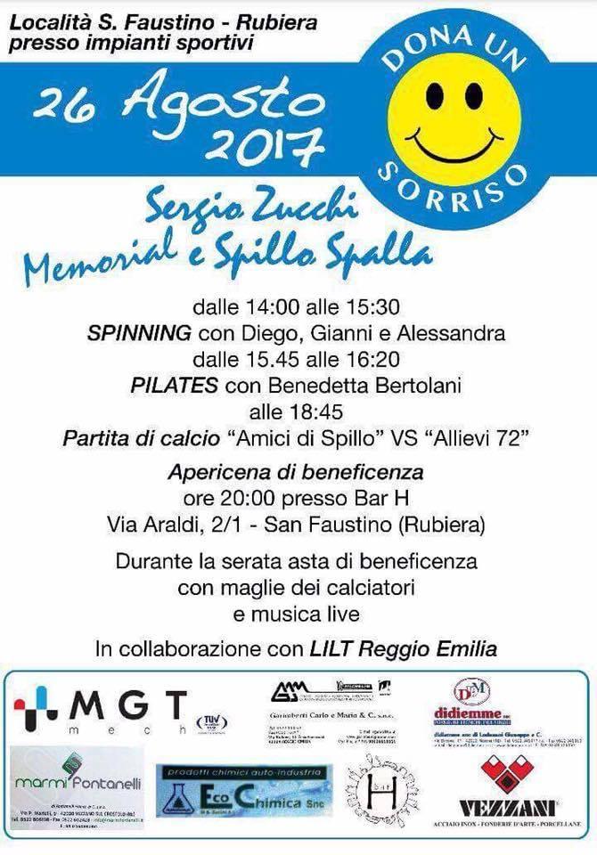 """26 agosto 2017 – Memorial """"Spillo e Spalla"""" – Impianti sportivi S.Faustino – Rubiera (RE)"""