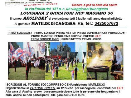 """3 luglio 2018 – """"AROLD DAY"""" – Golf Club """"Matilde di Canossa"""" – Reggio Emilia"""