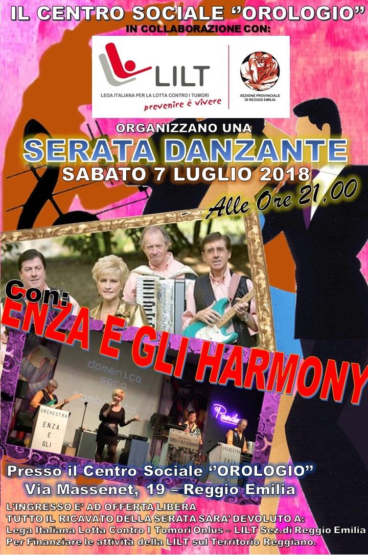 """7 luglio 2018 – SERATA DANZANTE – Circolo Arci """"Orologio"""" – Reggio Emilia (RE)"""