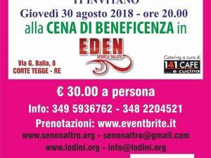 30 agosto 2018 – Cena di Beneficenza SENONALTRO & EDEN SPORT