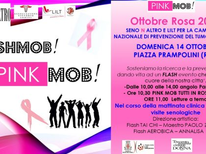 """14 ottobre 2018 – """"PINKMOB"""" – Piazza Prampolini – Reggio Emilia (RE)"""