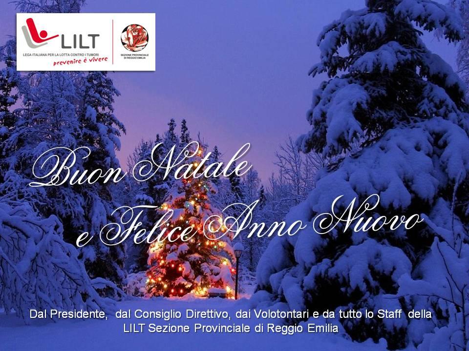 TANTI AUGURI di Buon Natale e Felice Anno Nuovo da LILT Sezione di Reggio Emilia