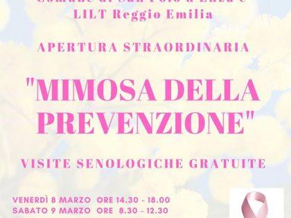 8-9 marzo 2019 – Calendario visite senologiche comune San Polo D'enza (RE)