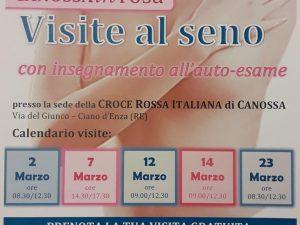 AGGIORNAMENTO DATE VISITE SENOLOGICHE – COMUNE DI CANOSSA (RE)